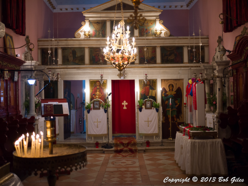 Interior of Agios Athanasios Church, Loutses