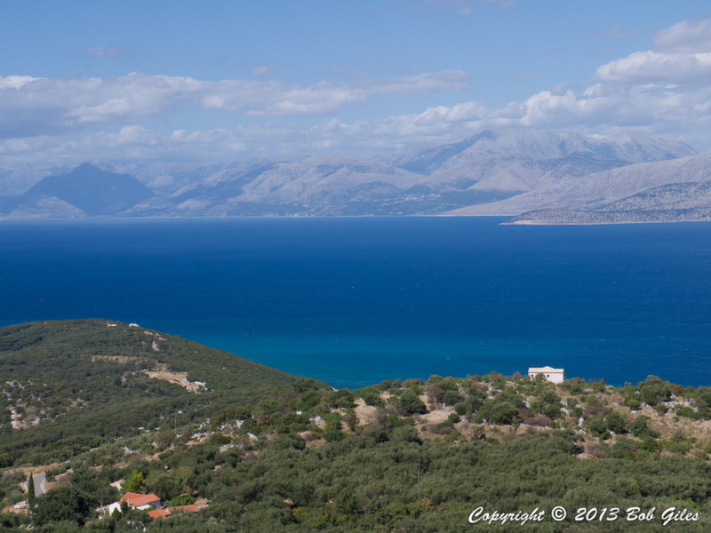 View of Albania from Loutses