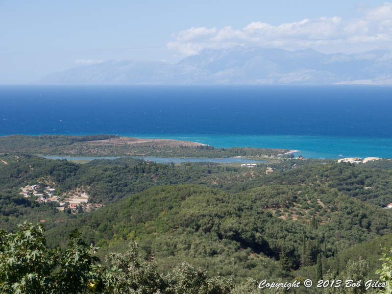 View from Loutses - Lake Antinioti