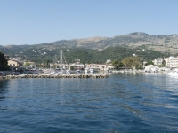 Leaving Kassiopi Harbour