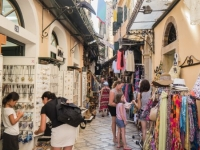 Street in Corfu Town.
