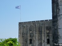 Greek Flag Over New Fortress